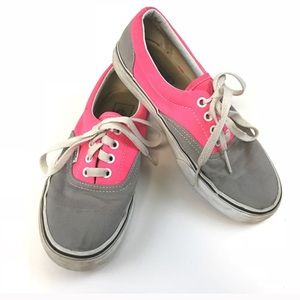 VANS Shoes Sneakers Lace Up 7 Pink Gray White Low